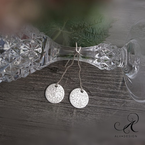 Curvy - Silver earrings