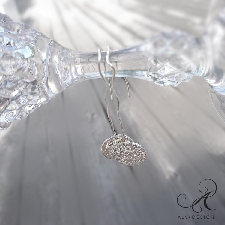 Curvy - Silver earrings