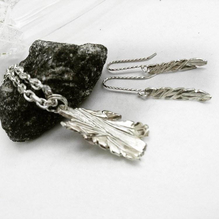 BLAD silverörhängen