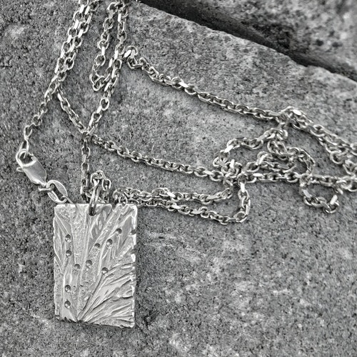 NATUR halsband i silver
