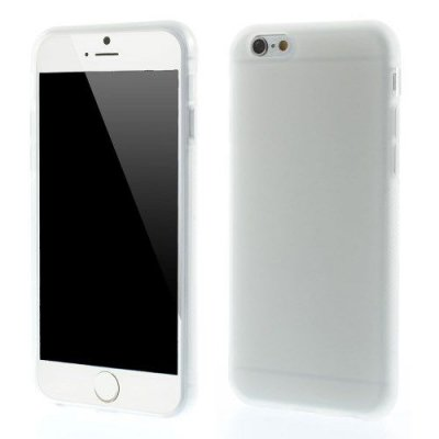 Flexibelt Anti-Slip Skal till Apple iPhone 6 frostad vit