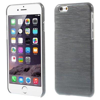 Hårt Skal iPhone 6 Grå blankt plast skal