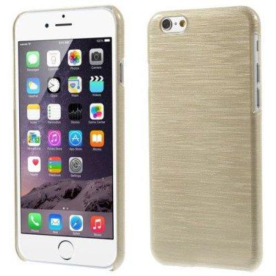 Hårt Skal iPhone 6 Guld färgad blankt plast skal