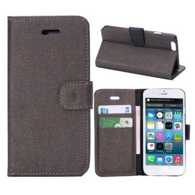 Plånboksfodral iPhone 6 Oracle grain Mörkgrå