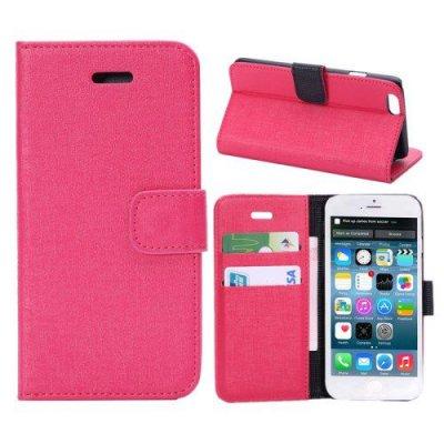 Plånboksfodral iPhone 6 Oracle grain Röd