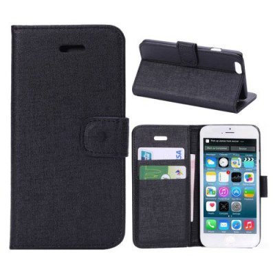 Plånboksfodral iPhone 6 Oracle grain Svart