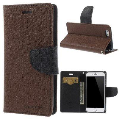 Plånboksfodral Mercury Fancy Diary till iPhone 6 Brun