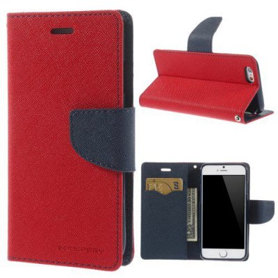 Plånboksfodral Mercury Fancy Diary till iPhone 6 Röd
