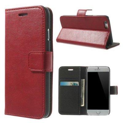 Röd Plånboksfodral till iPhone 6 med mjuk insida