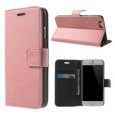 Rosa Plånboksfodral till iPhone 6 med mjuk insida