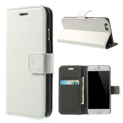 Vit Plånboksfodral till iPhone 6 med mjuk insida