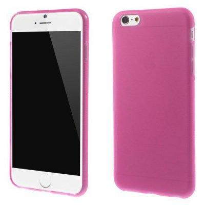 Flexibelt Anti-Slip Skal till Apple iPhone 6 Plus 5.5t Rödrosa