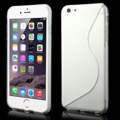 Flexibelt S-Design Skal till Apple iPhone 6 Plus Genomskinlig