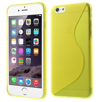 Flexibelt S-Design Skal till Apple iPhone 6 Plus Gul