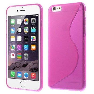 Flexibelt S-Design Skal till Apple iPhone 6 Plus Rödrosa