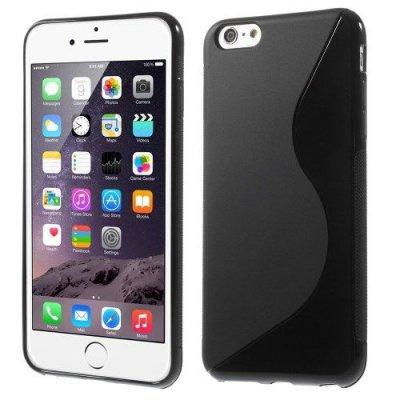 Flexibelt S-Design Skal till Apple iPhone 6 Plus Svart
