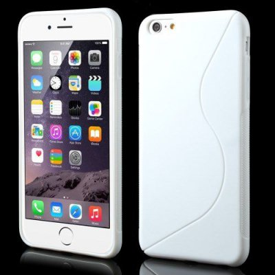 Flexibelt S-Design Skal till Apple iPhone 6 Plus Vit