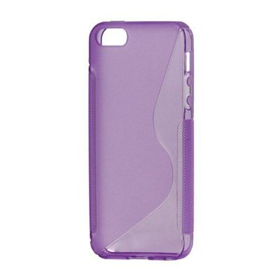 Flexibelt S-Design Skal till iPhone 5 5s Lila