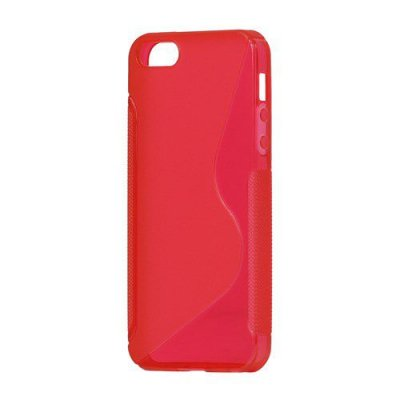 Flexibelt S-Design Skal till iPhone 5 5s Röd