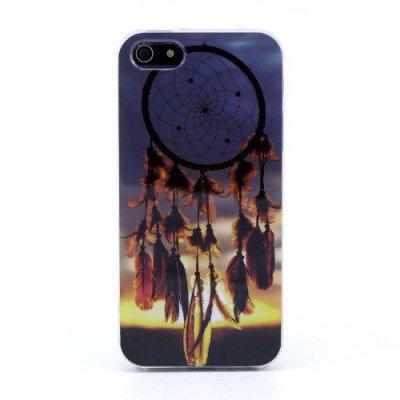 Flexibelt Skal iPhone 5 5S motiv drömfångare & solnedgång
