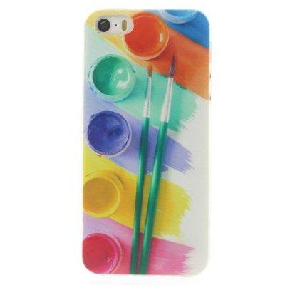 Flexibelt Skal till iPhone 5 5S med motiv färg & penslar