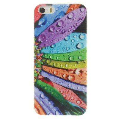 Flexibelt Skal till iPhone 5 5S med motiv kronblad & droppar