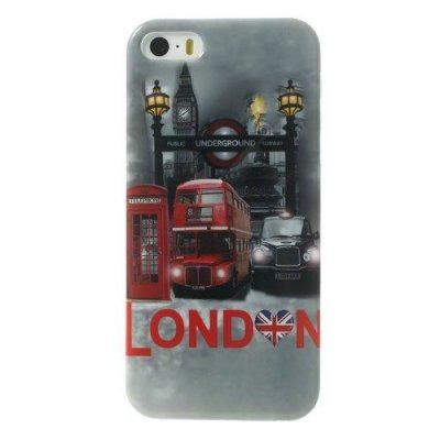 Flexibelt Skal till iPhone 5 5S med motiv London
