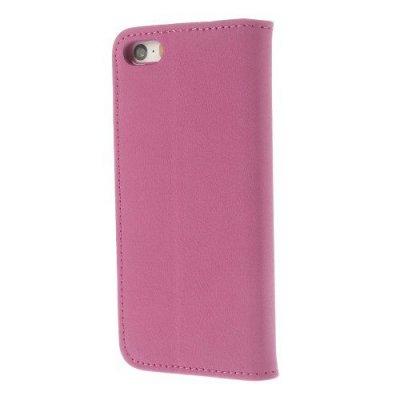 Fodral för iPhone 5 & 5s med integrerad hårt skal - Rödrosa
