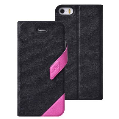 Fodral till iPhone 5 5s LLUNC Tiny Time Series - Svart / Rosa