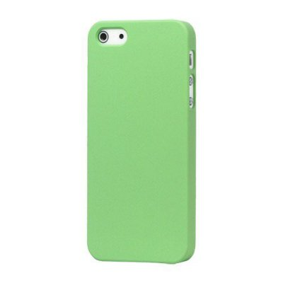 Hårt Skal iPhone 5 5s Grön med gummiyta för bättre grepp