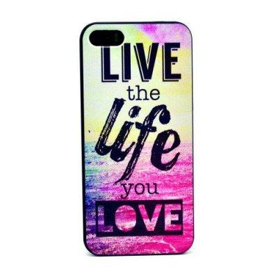 Hårt Skal iPhone 5 5S med motiv live the life you love
