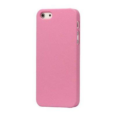 Hårt Skal iPhone 5 5s Rosa med gummiyta för bättre grepp