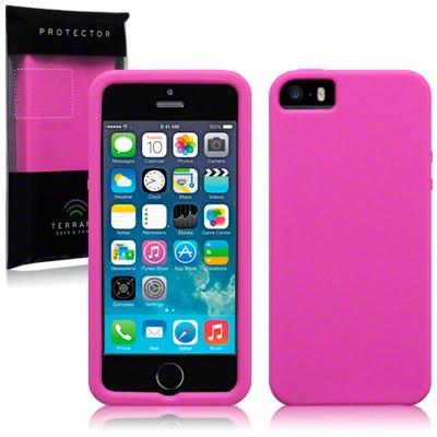iPhone 5 Silikon skal rosa