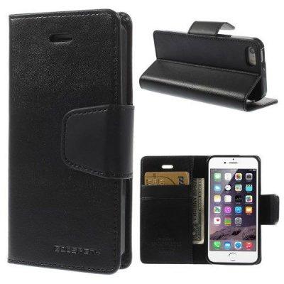 Plånboksfodral Mercury Sonata Diary till iPhone 5 5s Svart