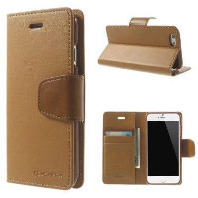 Plånboksfodral Mercury Sonata Diary till iPhone 6 Brun