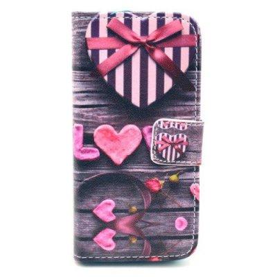 Plånboksfodral till iPhone 5 5S Love & Heart