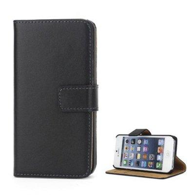 Svart Plånboksfodral till iPhone 5 5S