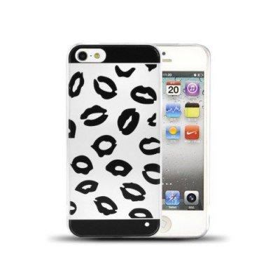 Slim skal till iPhone 5 5s svarta läppar i TPU