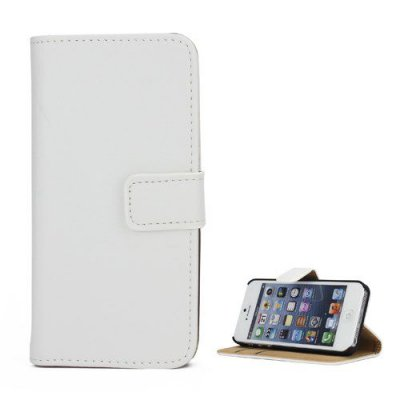Vit Plånboksfodral till iPhone 5 5S