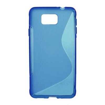 Flexibelt Skal S-Design till Samsung Galaxy Alpha Blå