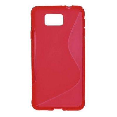 Flexibelt Skal S-Design till Samsung Galaxy Alpha Röd