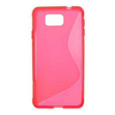 Flexibelt Skal S-Design till Samsung Galaxy Alpha Röd/Rosa