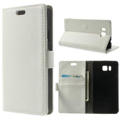 Plånboksfodral Vit till Samsung Galaxy Alpha