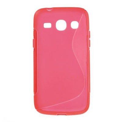 Flexibelt S-Design Skal till Samsung Galaxy Core Plus Röd