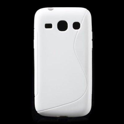 Flexibelt S-Design Skal till Samsung Galaxy Core Plus Vit