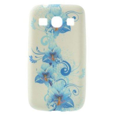 Flexibelt Skal till Samsung Galaxy Core Plus Blå kronblad