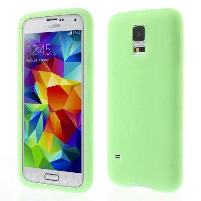 Silikon Skal Samsung Galaxy S5 Grön