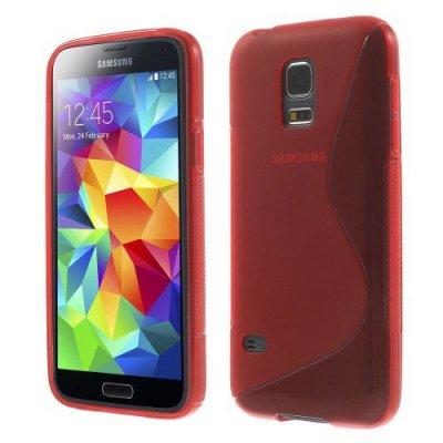 Flexibelt Skal S-Design till Samsung Galaxy S5 Mini Röd