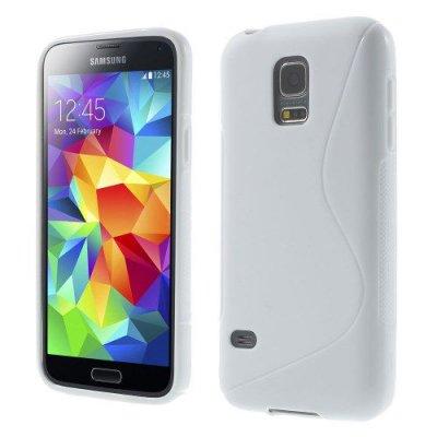 Flexibelt Skal S-Design till Samsung Galaxy S5 Mini Vit