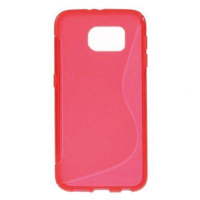 Flexibelt Skal S-Design till Samsung Galaxy S6 Röd